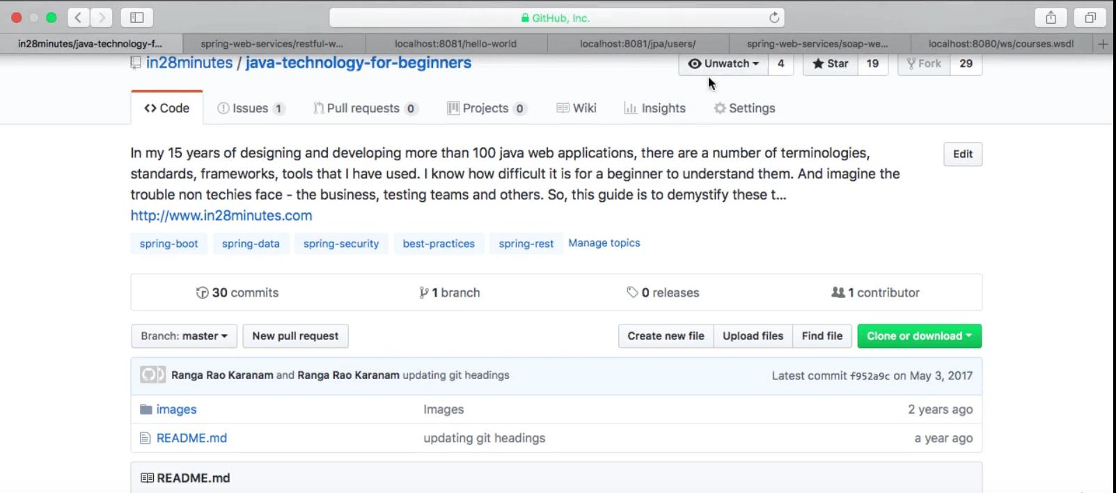 Screenshot of a GitHub webpage