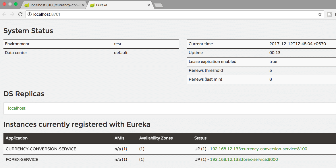 Microservices with Spring Boot - Part 5 - Using Eureka