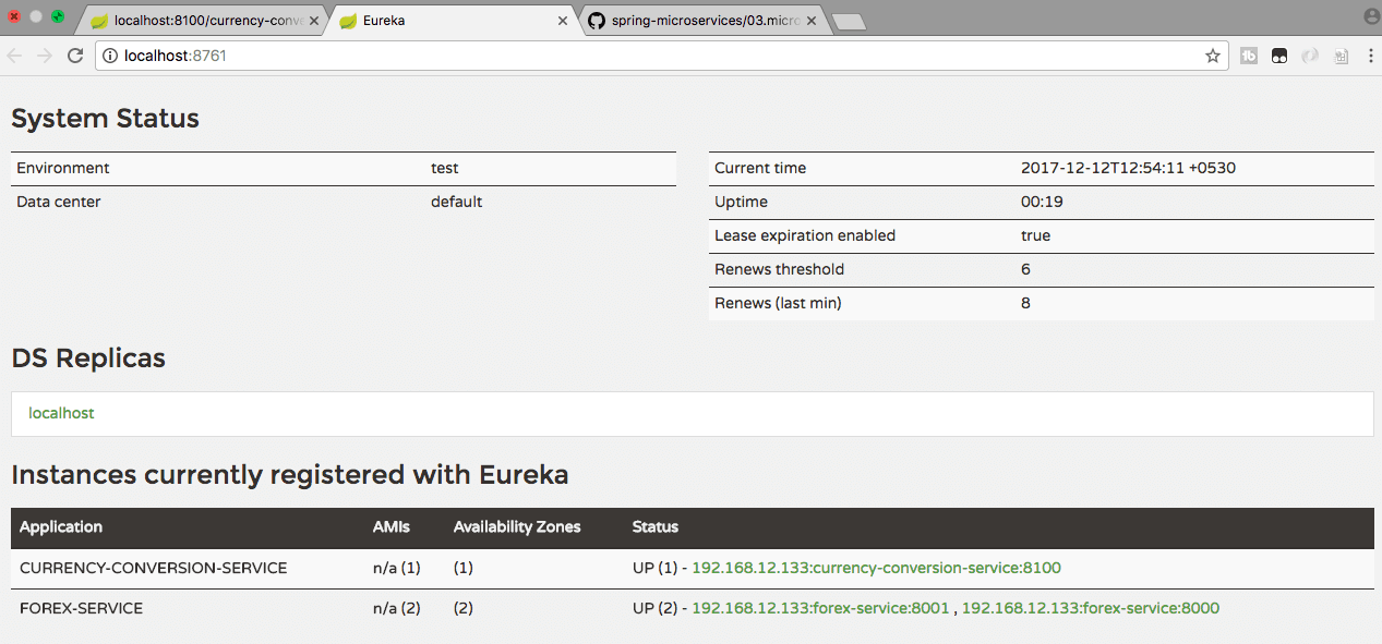Microservices with Spring Boot - Part 5 - Using Eureka Naming Server