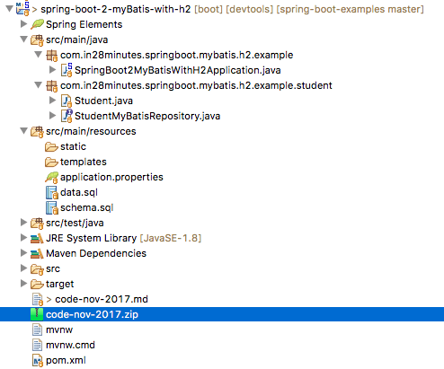 Spring Boot and iBatis with H2 - A Tutorial – Spring Boot