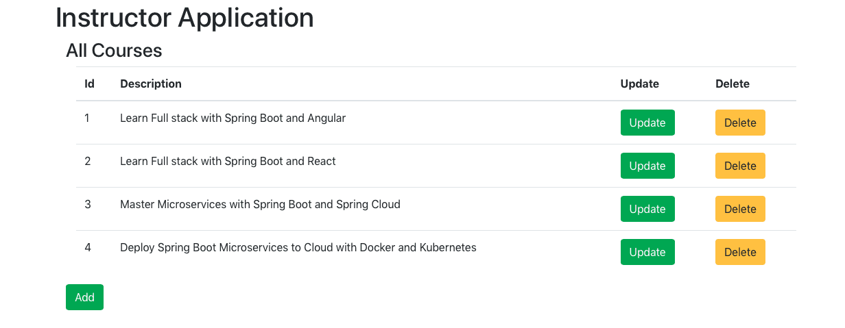 Creating Spring Boot and React CRUD Full Stack Application