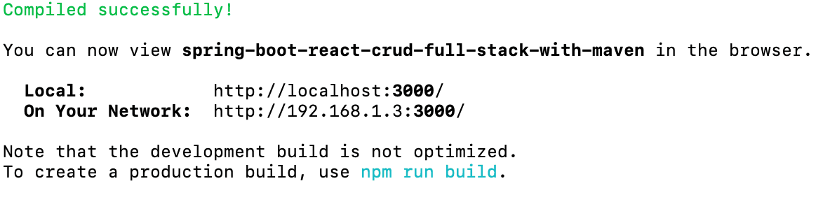 Creating Spring Boot and React CRUD Full Stack Application with